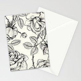 Vintage Roses Stationery Cards