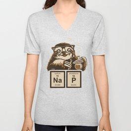 Chemistry sloth discovered nap Unisex V-Neck