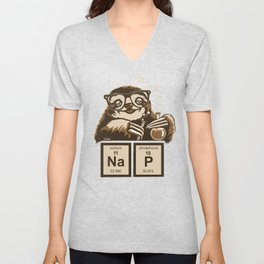 Chemistry sloth discovered nap Unisex V-Neck