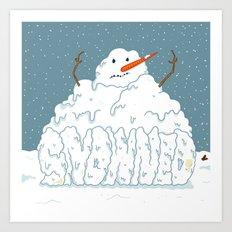 SNOWNED Art Print