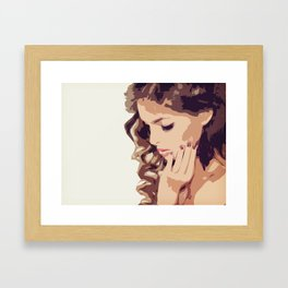 Thinking: The talking of the soul within itself Framed Art Print