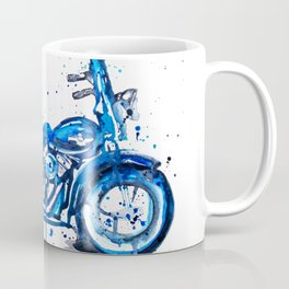 Blue Motorcycle Coffee Mug