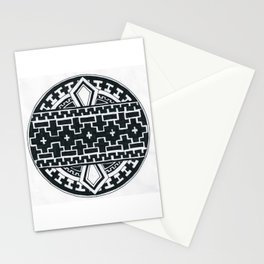 Geometric like mandala thing Stationery Cards