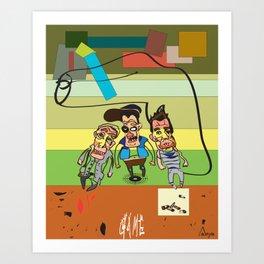 Beastie Gun Game Art Print