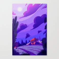 Campagne étoilée / Studed Countryside Canvas Print