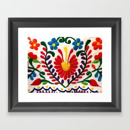 Red Mexican Flower Framed Art Print
