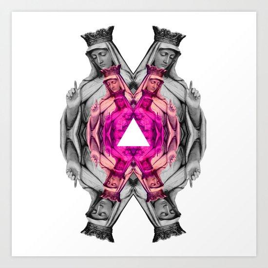 ❤ Pink Mary ❤ Art Print