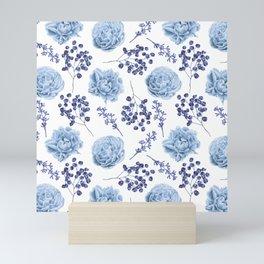Sky Blue Roses Mini Art Print