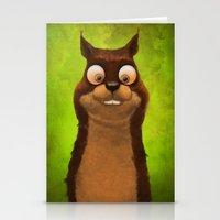squirrel Stationery Cards featuring Squirrel by Tatyana Adzhaliyska