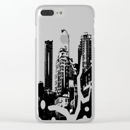 99 North in Black and White Clear iPhone Case