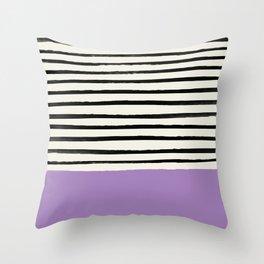 Lavender x Stripes Throw Pillow