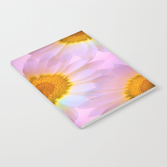 Pink Iridescent Floral Abstract Notebook