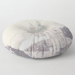 beneath the snow covered domes ... Floor Pillow