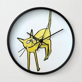 gold kat Wall Clock