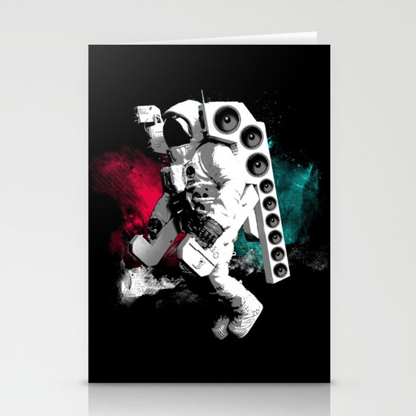 Basstronaut Stationery Cards