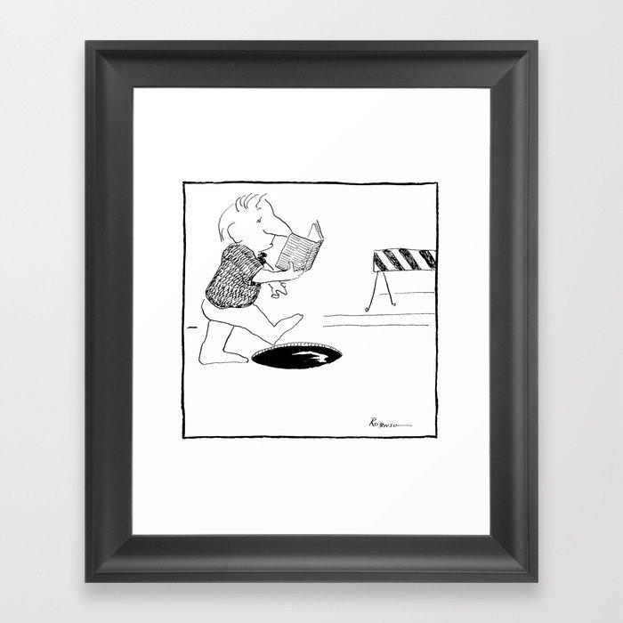 pay attention! Framed Art Print