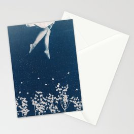 dancing in the blue Stationery Cards