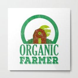 Earth Day 2019 Organic Farmer Regional Vegetable Fruit Metal Print