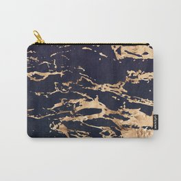 Double Marble Lichenradient Suede Carry-All Pouch