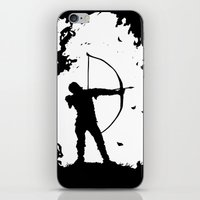 robin hood iPhone & iPod Skins featuring The Ballad Of Robin Hood by thehangingbadger