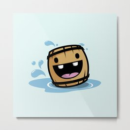 Happy Barrel Metal Print