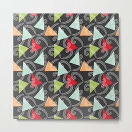 Worms and Triangles Metal Print