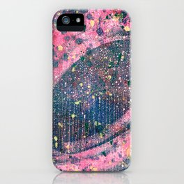 Pink space iPhone Case