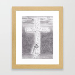 His Wounds Framed Art Print