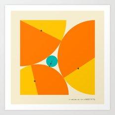 'X' MARKS THE SPOT: Descartes Theorem Art Print