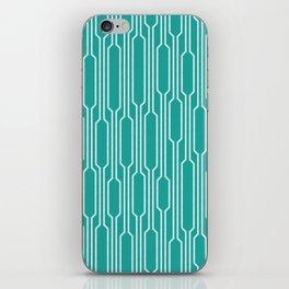 Spells - Geometric Lines Pattern (Turquoise) iPhone Skin