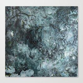 Green Pour Canvas Print