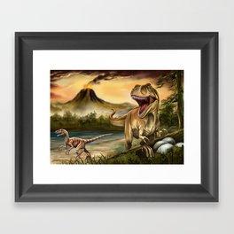 Predator Dinosaurs Framed Art Print