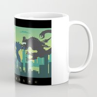pacific rim Mugs featuring Pacific Rim: For My Family by MNM Studios