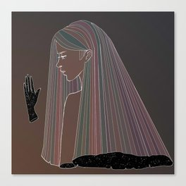 white ink 02 - dichotomy Canvas Print
