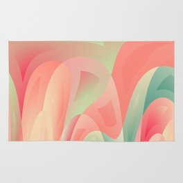 Abstract color harmony Rug