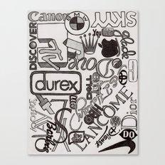 Logo Mania Canvas Print