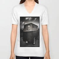 ford V-neck T-shirts featuring old ford by Joedunnz