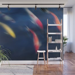 Koi fish in a pond Wall Mural
