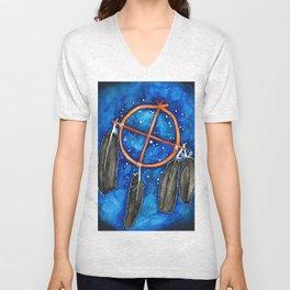 Compass Dreamcatcher Unisex V-Neck