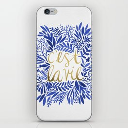 That's Life – Gold & Blue iPhone Skin