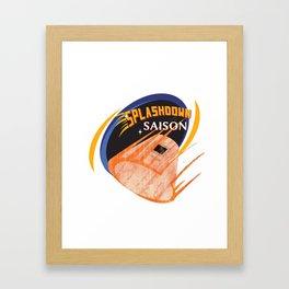 Splashdown Saison Framed Art Print