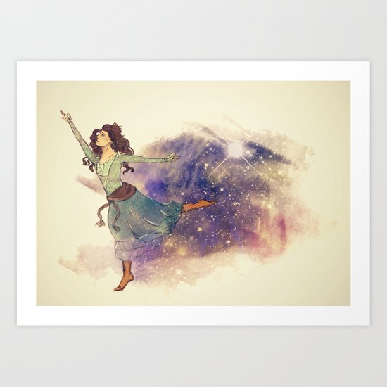 Dance on my own feet Art Print