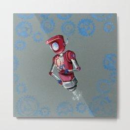 Robot Flash Metal Print