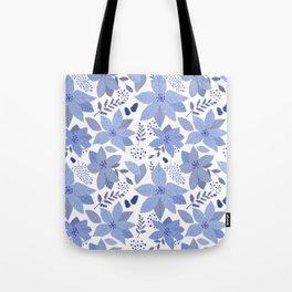 Serene Poinsettia Tote Bag