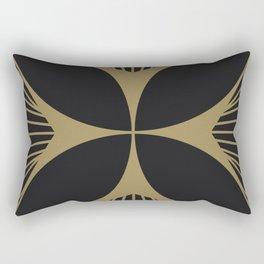 Diamond Series Floral Cross Gold on Charcoal Rectangular Pillow