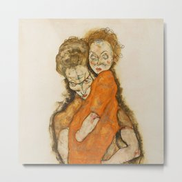 "Egon Schiele ""Mother and Child"" Metal Print"