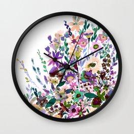 Scarlett Floral Pastel Wall Clock