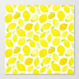 Beautiful Lemon Pattern Canvas Print