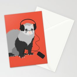 Music Loving Ferret Stationery Cards