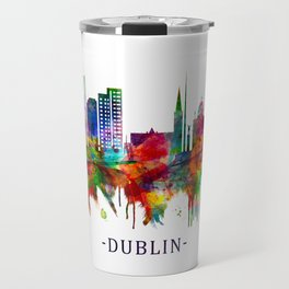 Dublin Republic of Ireland Skyline Travel Mug